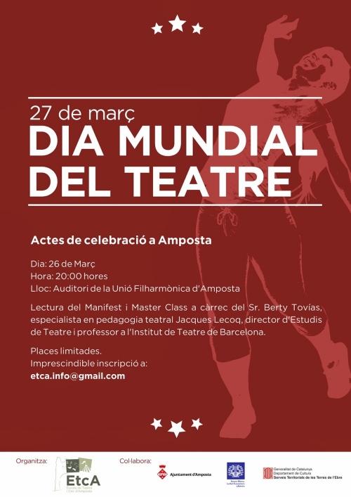 Societat Musical La Unió Filharmònica d´Amposta > Arxiu de notícies > Dia Mundial del Teatre