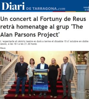 Un concert al Fortuny de Reus retr� homenatge al grup �The Alan Parsons Project�