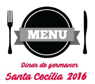 Menú de Santa Cecília 2016. Diumenge 20 de novembre de 2016