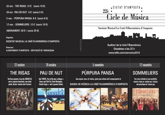 Societat Musical La Unió Filharmònica d´Amposta > Arxiu de notícies > 22è CICLE DE MÚSICA CIUTAT D´AMPOSTA