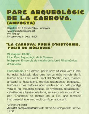 """Societat Musical La Unió Filharmònica d´Amposta > Arxiu de notícies > La Fila participarà en la primera edició del programa """"Ebre, Música & Patrimoni"""""""