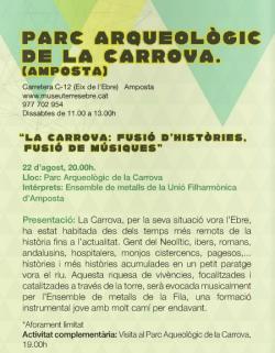 """La Fila participarà en la primera edició del programa """"Ebre, Música & Patrimoni"""""""