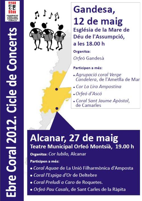 Societat Musical La Unió Filharmònica d´Amposta > Arxiu de notícies > EBRE CORAL 2012