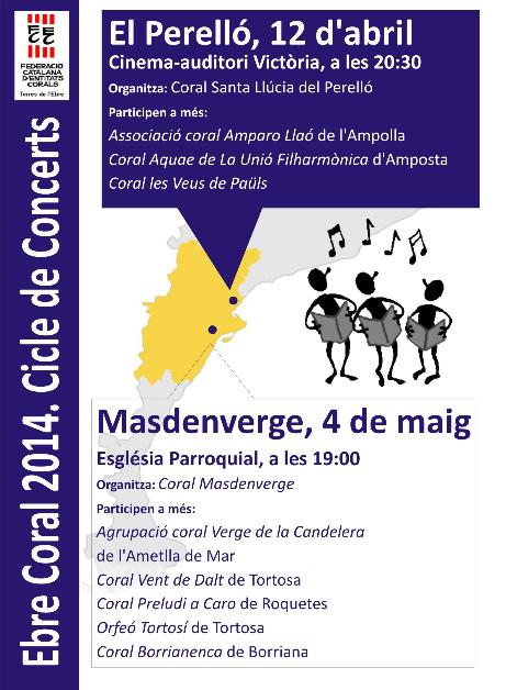 Societat Musical La Unió Filharmònica d´Amposta > Arxiu de notícies > EBRE CORAL 2014