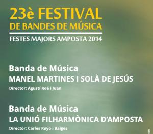 23è FESTIVAL DE BANDES DE MÚSICA. FESTES MAJORS AMPOSTA 2014