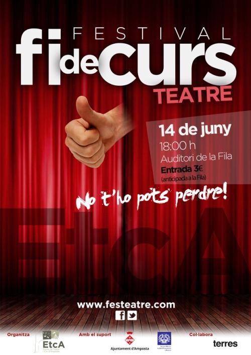 Societat Musical La Unió Filharmònica d´Amposta > Arxiu de notícies > Festival de fi de curs de l´Escola de Teatre i Circ d´Amposta