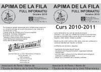 Societat Musical La Unió Filharmònica d´Amposta > Escola de Música > FULLS INFORMATIUS APIMA
