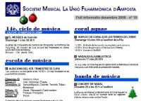 Societat Musical La Unió Filharmònica d´Amposta > Full informatiu > FULL INFORMATIU DESEMBRE 2008