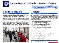 Societat Musical La Unió Filharmònica d´Amposta > Full informatiu > FULL INFORMATIU FEBRER 2009