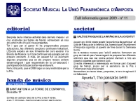 Societat Musical La Unió Filharmònica d´Amposta > Full informatiu > FULL INFORMATIU GENER 2009