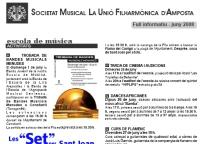Societat Musical La Unió Filharmònica d´Amposta > Full informatiu > FULL INFORMATIU JUNY 2008