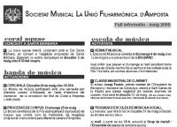 Societat Musical La Unió Filharmònica d´Amposta > Full informatiu > FULL INFORMATIU MAIG 2008