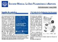 Societat Musical La Unió Filharmònica d´Amposta > Full informatiu > FULL INFORMATIU MARÇ 2008
