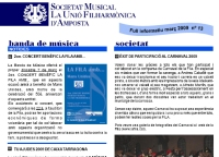 Societat Musical La Unió Filharmònica d´Amposta > Full informatiu > FULL INFORMATIU MARÇ 2009