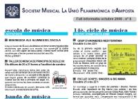 Societat Musical La Unió Filharmònica d´Amposta > Full informatiu > FULL INFORMATIU OCTUBRE 2008