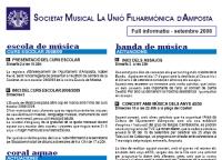 Societat Musical La Unió Filharmònica d´Amposta > Full informatiu > FULL INFORMATIU SETEMBRE 2008