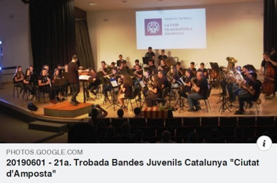 Societat Musical La Unió Filharmònica d´Amposta > Notícies > Galeria de fotos de la 21a Trobada de Bandes Juvenils de Catalunya