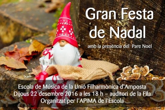 Societat Musical La Unió Filharmònica d´Amposta > Arxiu de notícies > Gran festa de Nadal 2016