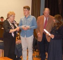 Entrega del Guardó a la Qualitat Musical Ampostina Torres-Soriano