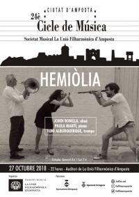 24è Cicle de Música Ciutat d´Amposta. Trio HEMIÒLIA