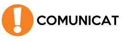 COMUNICAT: se suspèn la presentació presencial del curs 2020/21 prevista per al dimecres 9 de setembre
