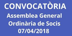 Convocatòria Assemblea General Ordinària de Socis