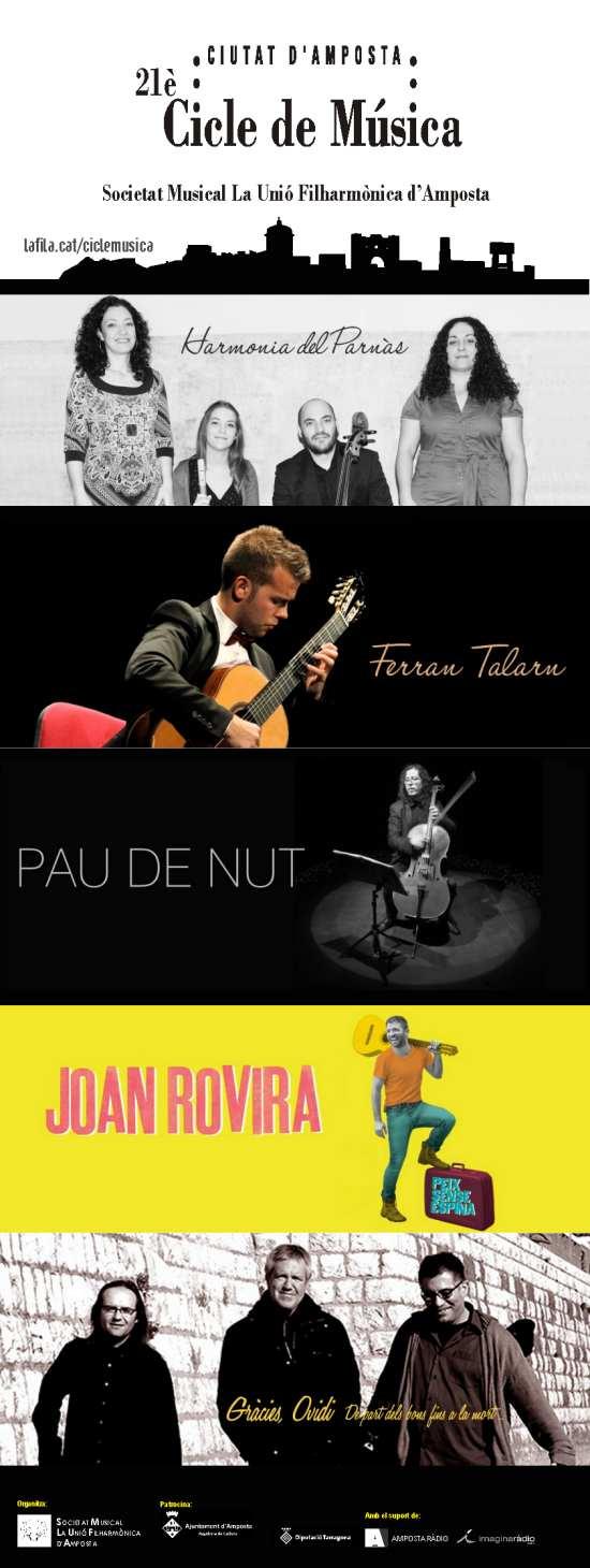 Societat Musical La Unió Filharmònica d´Amposta > Arxiu de notícies > Tot a punt per a una nova edició del Cicle de Música Ciutat d'Amposta