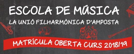 Societat Musical La Unió Filharmònica d´Amposta > Notícies > Matriculacions Escola de Música