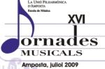 XVI JORNADES MUSICALS 2009