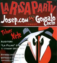 LA RISA PARTY AMB JOSEP.COM I GONZALO CHÉLIZ
