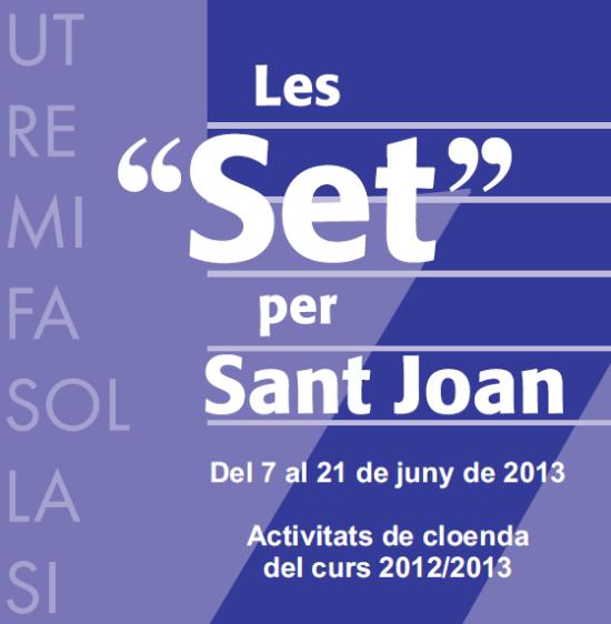 Societat Musical La Unió Filharmònica d´Amposta > Arxiu de notícies > LES SET PER SANT JOAN 2013