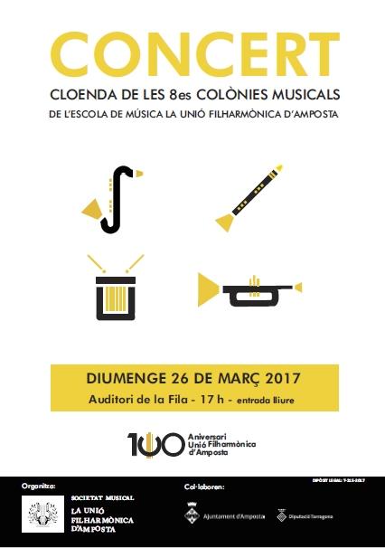 Societat Musical La Unió Filharmònica d´Amposta > Arxiu de notícies > Divendres comença la 8a edició de les Colònies Musicals