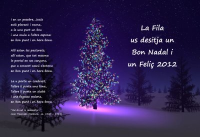 Societat Musical La Unió Filharmònica d´Amposta > Arxiu de notícies > Bon Nadal i Feliç 2012