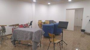 Ja està en ple funcionament la nova sala d´assaig de la nostra Escola de Música