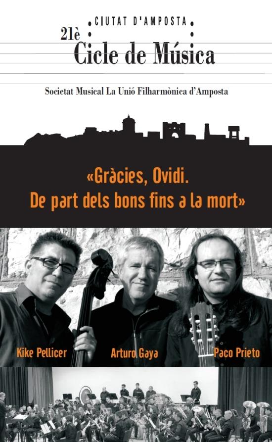 Societat Musical La Unió Filharmònica d´Amposta > Arxiu de notícies > Gràcies, Ovidi. De part dels bons fins a la mort