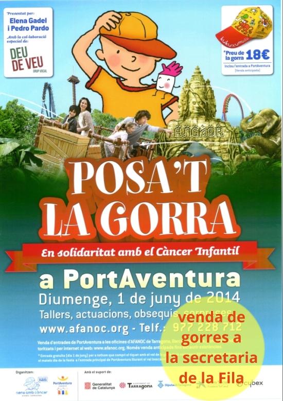 Societat Musical La Unió Filharmònica d´Amposta > Arxiu de notícies > POSA´T LA GORRA A PORT AVENTURA. Diumenge 1 de juny
