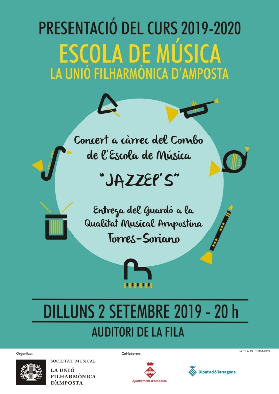 Societat Musical La Unió Filharmònica d´Amposta > Notícies > Presentació del curs 2019-2020