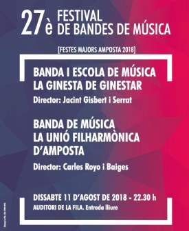 27è Festival de Bandes de Música Festes Majors Amposta 2018