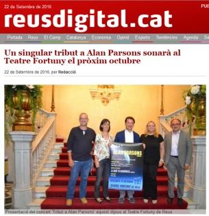 Un singular tribut a Alan Parsons sonar� al Teatre Fortuny el pr�xim octubre
