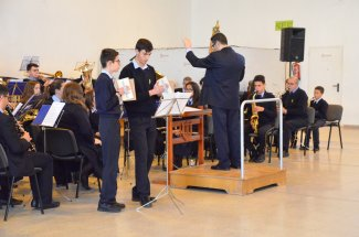 Jornada d'intercanvi amb l'escola de música de l'Associació Filharmònica Rossellana