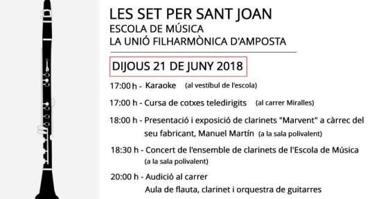 Societat Musical La Unió Filharmònica d´Amposta > Notícies > Les Set per Sant Joan 2018