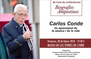 Biografies ampostines: Carlos Conde, un apassionat de la música i de la vida