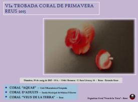 VI TROBADA CORAL DE PRIMAVERA REUS 2015