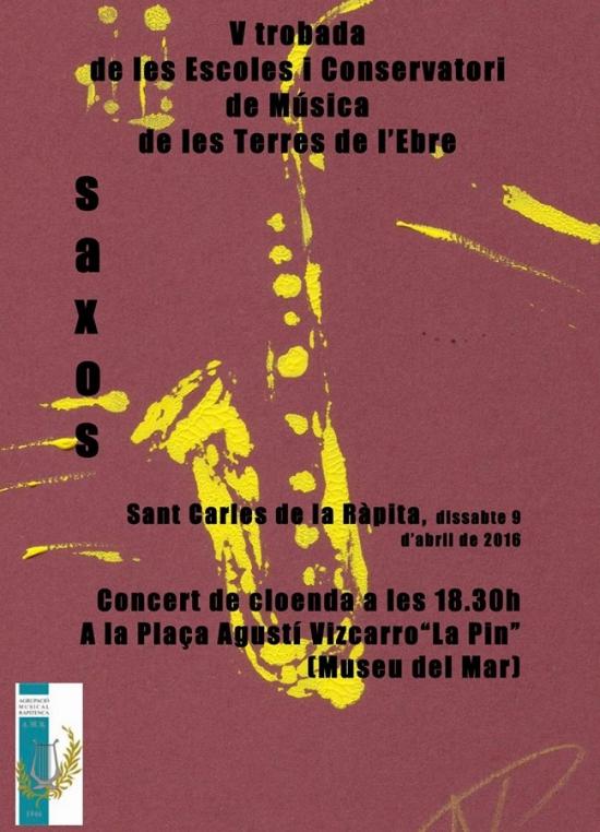 Societat Musical La Unió Filharmònica d´Amposta > Arxiu de notícies > Trobada de saxos de les Terres de l´Ebre
