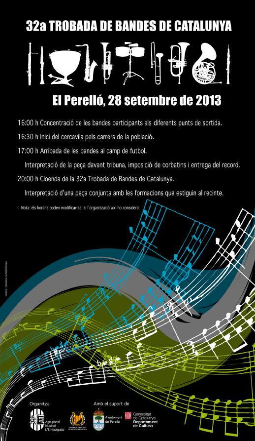 Societat Musical La Unió Filharmònica d´Amposta > Arxiu de notícies > 32a TROBADA DE BANDES DE MÚSICA DE CATALUNYA