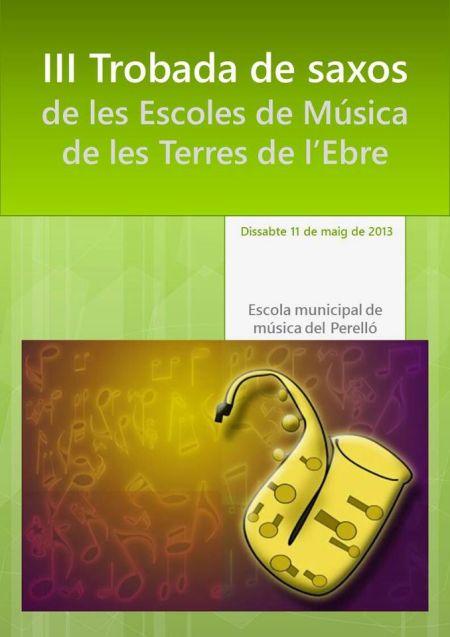 Societat Musical La Unió Filharmònica d´Amposta > Arxiu de notícies > III Trobada de Saxos de les Escoles de Música de les Terres de l´Ebre
