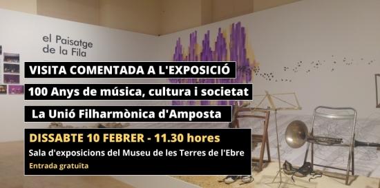 Societat Musical La Unió Filharmònica d´Amposta > Notícies > Última de les visites comentades a l´exposició del Centenari de la Fila