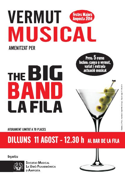 Societat Musical La Unió Filharmònica d´Amposta > Arxiu de notícies > VERMUT MUSICAL A CÀRREC DE LA BIG BAND DE LA FILA