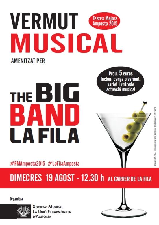 Societat Musical La Unió Filharmònica d´Amposta > Arxiu de notícies > Vermut musical amb la Big Band La Fila